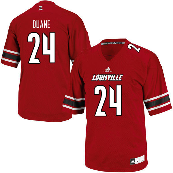 Men #24 Jack Duane Louisville Cardinals College Football Jerseys Sale-Red