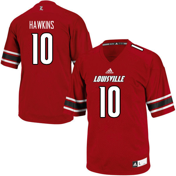 Men #10 Javian Hawkins Louisville Cardinals College Football Jerseys Sale-Red