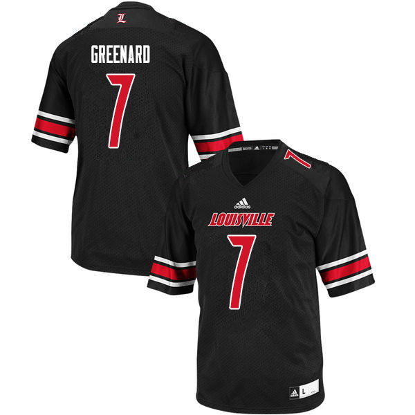 Men #7 Jon Greenard Louisville Cardinals College Football Jerseys Sale-Black