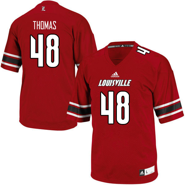 Men #48 Jordan Thomas Louisville Cardinals College Football Jerseys Sale-Red