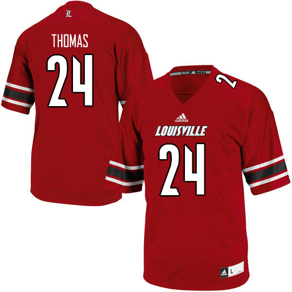 Men #24 Lamarques Thomas Louisville Cardinals College Football Jerseys Sale-Red