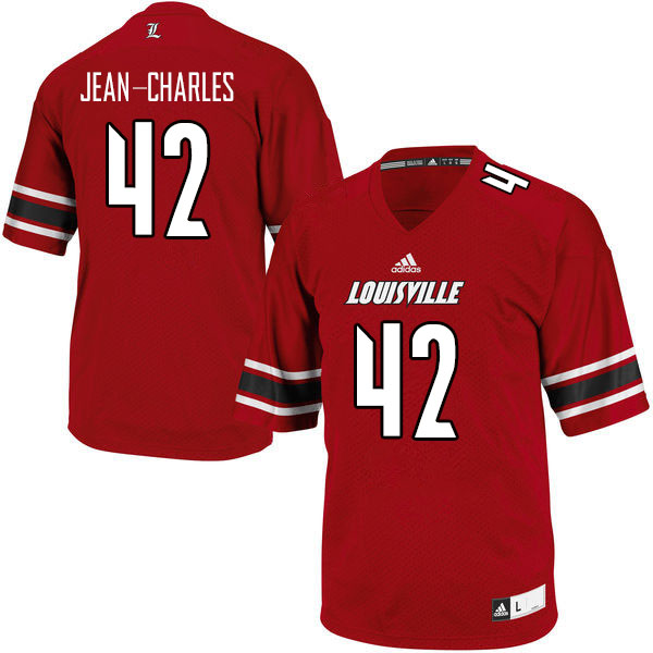Men #42 Ori Jean-Charles Louisville Cardinals College Football Jerseys Sale-Red