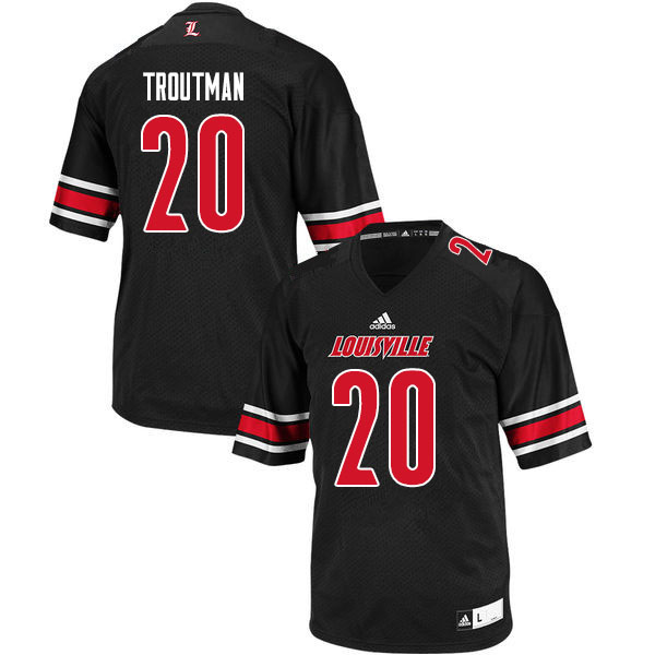 Men #20 Trenell Troutman Louisville Cardinals College Football Jerseys Sale-Black