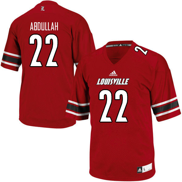 Men #22 Yasir Abdullah Louisville Cardinals College Football Jerseys Sale-Red