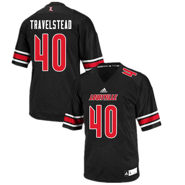 Men #40 Brock Travelstead Louisville Cardinals College Football Jerseys Sale-Black
