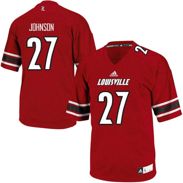 Men Louisville Cardinals #27 Anthony Johnson College Football Jerseys Sale-Red