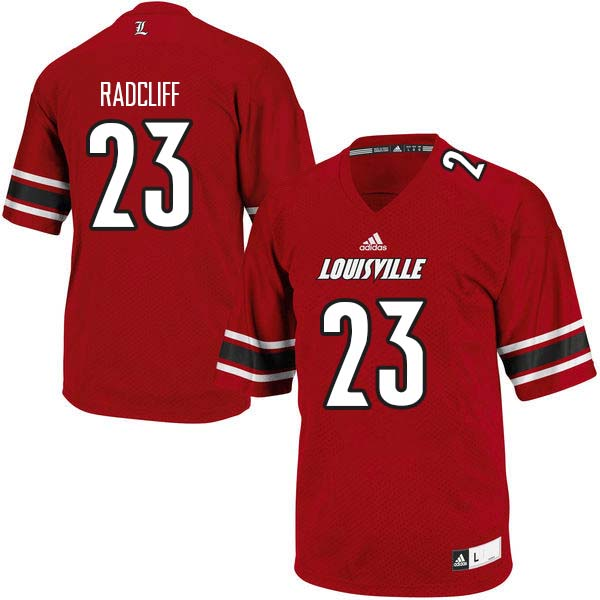 Men Louisville Cardinals #23 Brandon Radcliff College Football Jerseys Sale-Red