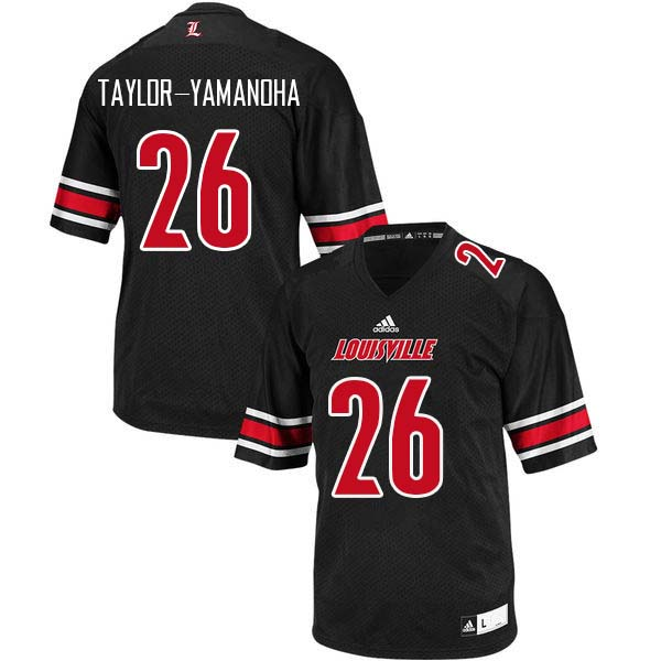 Men Louisville Cardinals #26 Chris Taylor-Yamanoha College Football Jerseys Sale-Black
