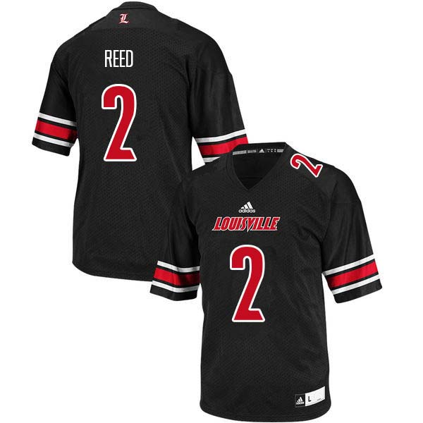 Men Louisville Cardinals #2 Corey Reed College Football Jerseys Sale-Black
