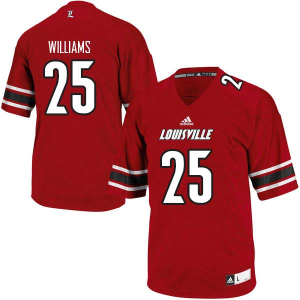 Men Louisville Cardinals #25 Dae Williams College Football Jerseys Sale-Red