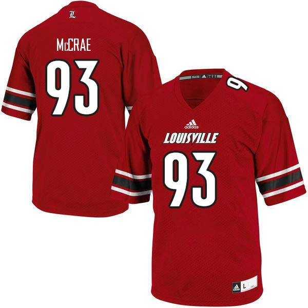 Men Louisville Cardinals #93 Gary McCrae College Football Jerseys Sale-Red