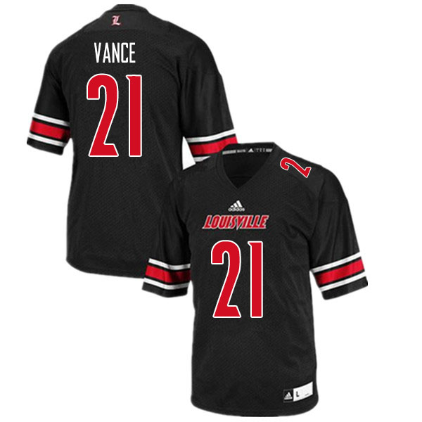 Men #21 Greedy Vance Louisville Cardinals College Football Jerseys Sale-Black