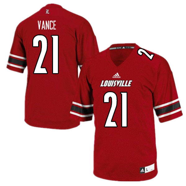 Men #21 Greedy Vance Louisville Cardinals College Football Jerseys Sale-Red