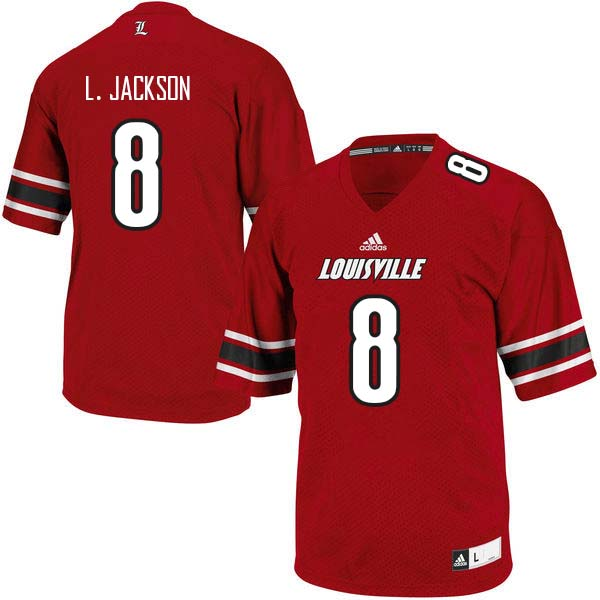 Men Louisville Cardinals #8 Lamar Jackson College Football Jerseys Sale-Red