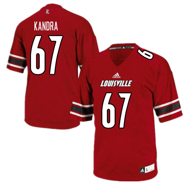 Men #67 Luke Kandra Louisville Cardinals College Football Jerseys Sale-Red