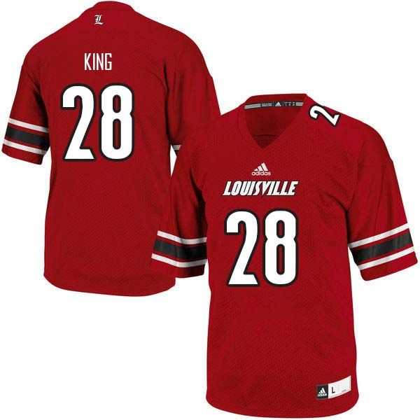 Men Louisville Cardinals #28 Mason King College Football Jerseys Sale-Red