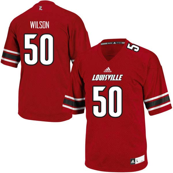 Men Louisville Cardinals #50 Otis Wilson College Football Jerseys Sale-Red