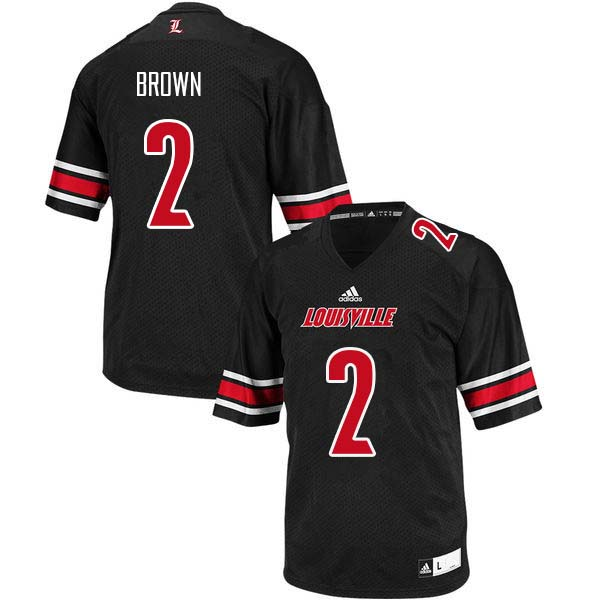 Men Louisville Cardinals #2 Preston Brown College Football Jerseys Sale-Black