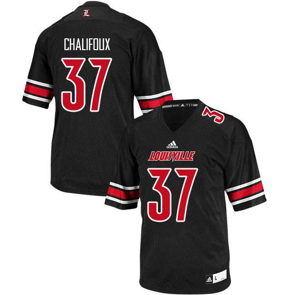 Men Louisville Cardinals #37 Ryan Chalifoux College Football Jerseys Sale-Black