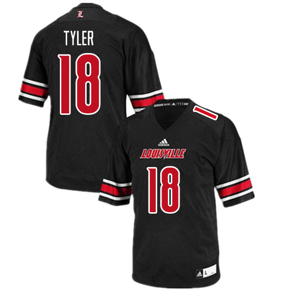 Men #18 Ty Tyler Louisville Cardinals College Football Jerseys Sale-Black