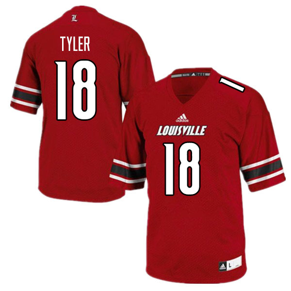 Men #18 Ty Tyler Louisville Cardinals College Football Jerseys Sale-Red
