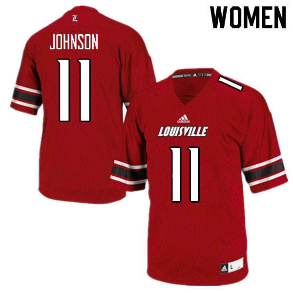 Women #11 Josh Johnson Louisville Cardinals College Football Jerseys Sale-Red