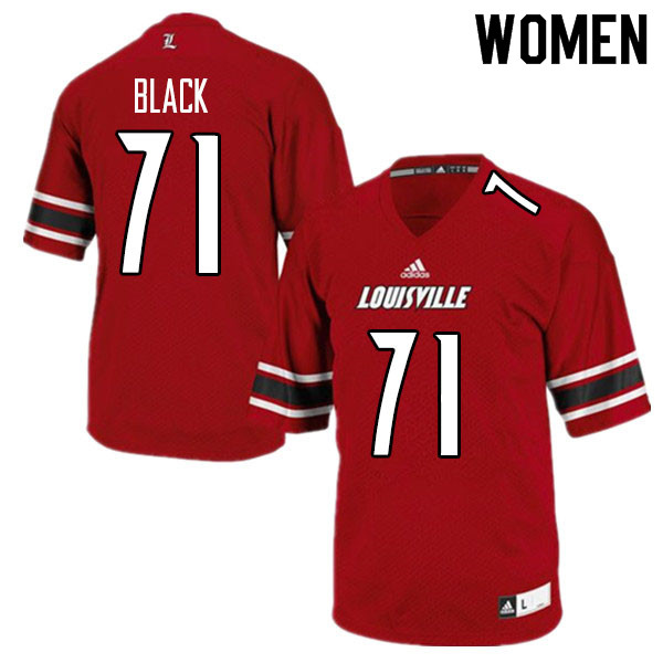 Women #71 Joshua Black Louisville Cardinals College Football Jerseys Sale-Red