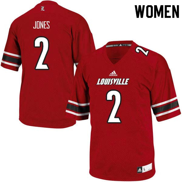 Women Louisville Cardinals #2 Chandler Jones College Football Jerseys Sale-Red