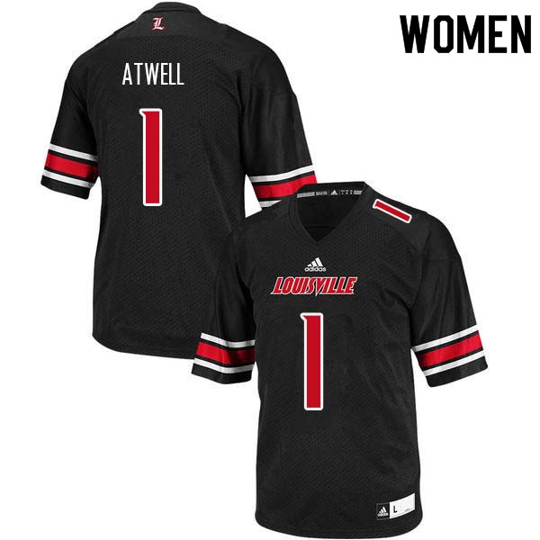 Women Louisville Cardinals #1 Chatarius Atwell College Football Jerseys Sale-Black