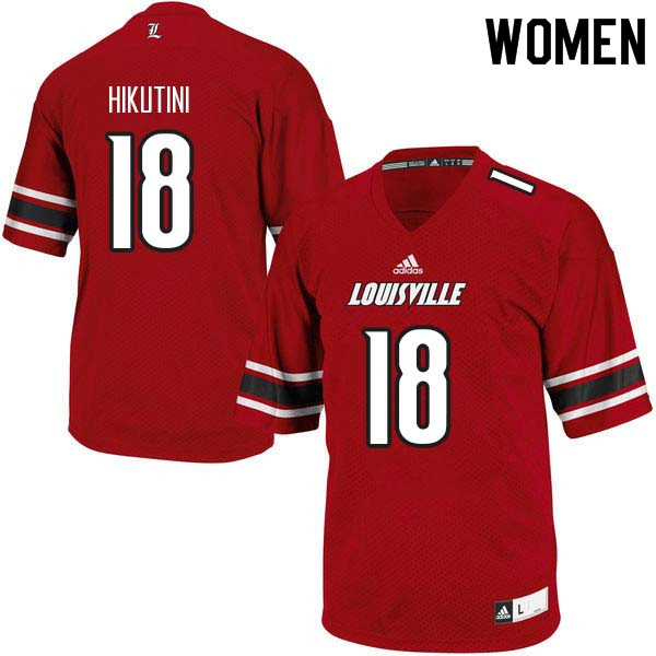 Women Louisville Cardinals #18 Cole Hikutini College Football Jerseys Sale-Red