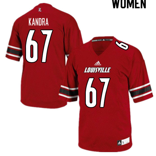 Women #67 Luke Kandra Louisville Cardinals College Football Jerseys Sale-Red