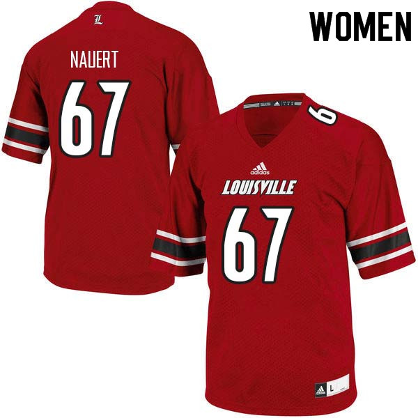 Women Louisville Cardinals #67 Thomas Nauert College Football Jerseys Sale-Red
