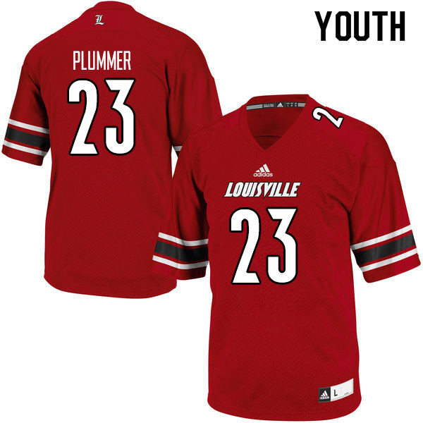 Youth #23 Telly Plummer Louisville Cardinals College Football Jerseys Sale-Red