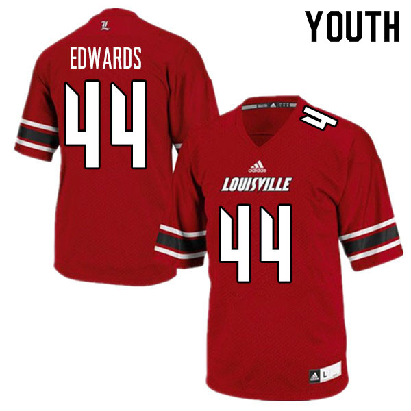 Youth #44 Zach Edwards Louisville Cardinals College Football Jerseys Sale-Red