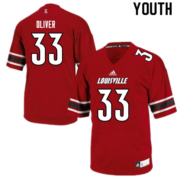 Youth #33 Bralyn Oliver Louisville Cardinals College Football Jerseys Sale-Red