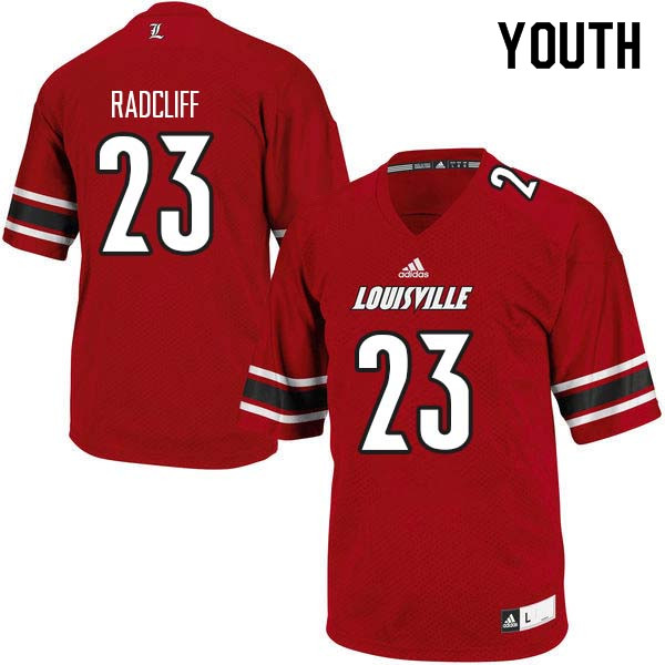 Youth Louisville Cardinals #23 Brandon Radcliff College Football Jerseys Sale-Red