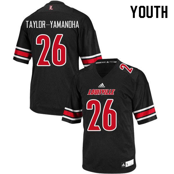 Youth Louisville Cardinals #26 Chris Taylor-Yamanoha College Football Jerseys Sale-Black