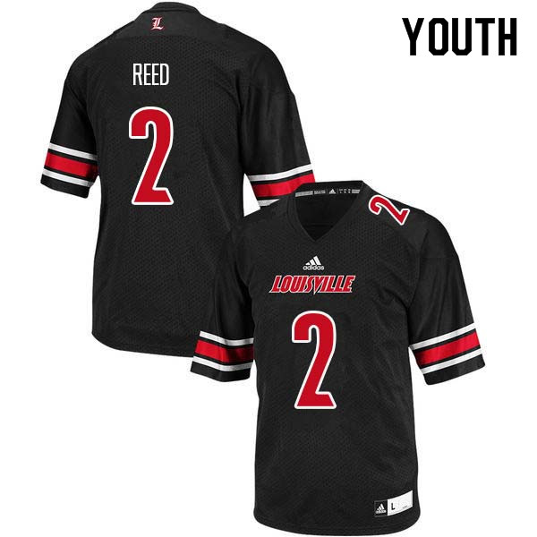 Youth Louisville Cardinals #2 Corey Reed College Football Jerseys Sale-Black