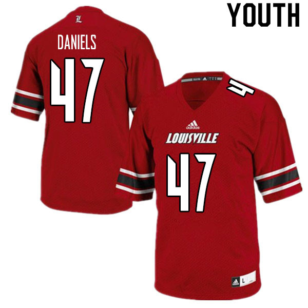 Youth #47 Desmond Daniels Louisville Cardinals College Football Jerseys Sale-Red