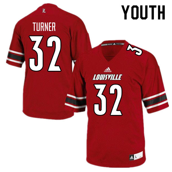 Youth #32 James Turner Louisville Cardinals College Football Jerseys Sale-Red