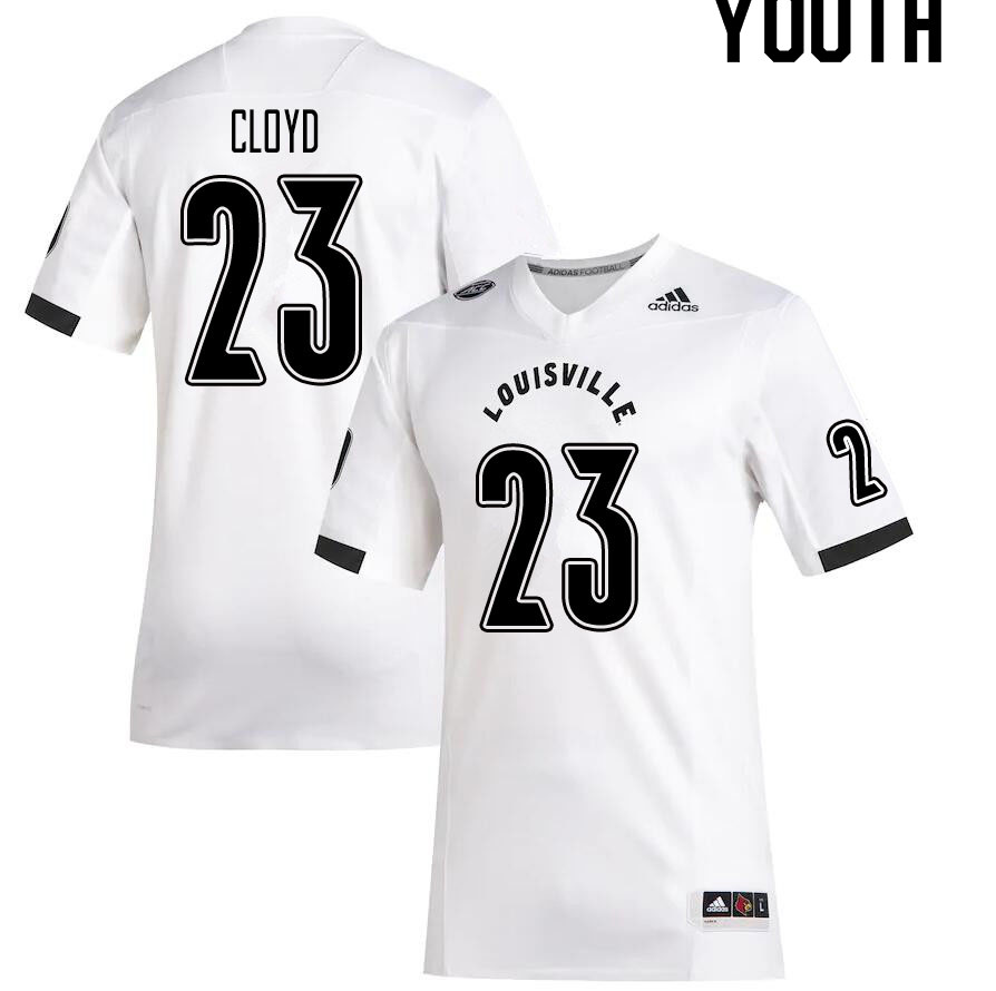 Youth #23 K.J. Cloyd Louisville Cardinals College Football Jerseys Sale-White