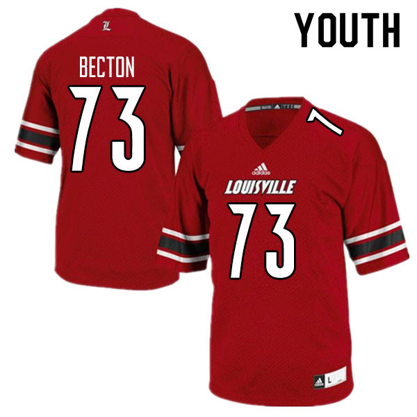 Youth #73 Mekhi Becton Louisville Cardinals College Football Jerseys Sale-Red