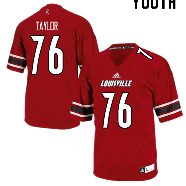 Youth #76 Travis Taylor Louisville Cardinals College Football Jerseys Sale-Red