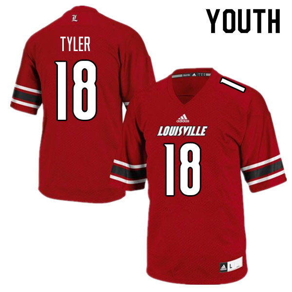 Youth #18 Ty Tyler Louisville Cardinals College Football Jerseys Sale-Red